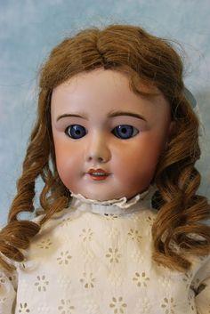 "26"" French SFBJ 301 Paris Antique Doll with Blue sleep eyes, Orig. H.H.Wig Dress"
