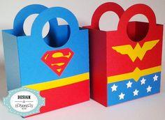 Sacolinha Super - Heróis I   Design & Papel   Elo7