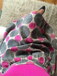 Print, Pattern, Sew: February 2015 by Jen Hewett. Block printed fabric by the artist, pattern by Liesl + Co.