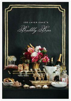 Gatsby inspired champagne bar