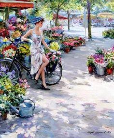 Konstantin Razumov,  Russian, Impressionist painter