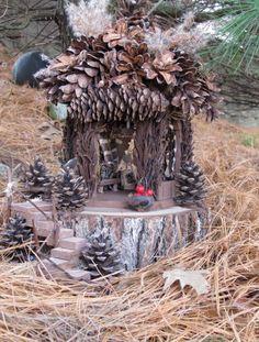 The Pine Lodge fairy house