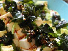 ★豆腐と旬のわかめの韓国風サラダ。の画像