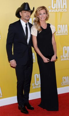 Faith Hill And Tim Mcgraw At The 46th Annual Cma Awards Country