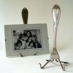 Van een vork een foto-standaard