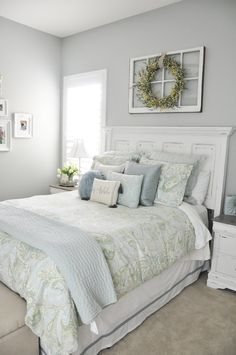 44 Best Farmhouse Bedroom Furniture Design Ideas And Decor 39 - Decoration for All Guest Bedroom Decor, Home Bedroom, Modern Bedroom, Master Bedrooms, Trendy Bedroom, Ideas For Guest Bedroom, Small Guest Bedrooms, Bedroom Ideas For Small Rooms For Adults, Adult Bedroom Decor