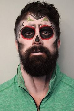 skeleton makeup on beard - Google Search | Halloween | Pinterest ...