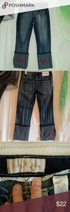 Baby Phat capri jeans Worn 1 or 2 times, have some stretch to them, very nice Baby Phat Jeans