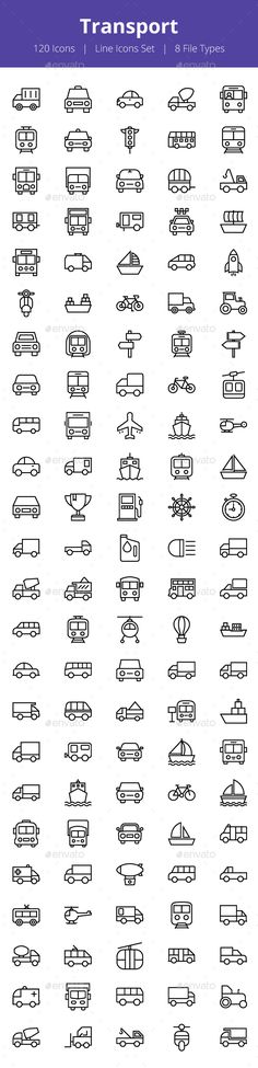 100+ Transport Line Icons