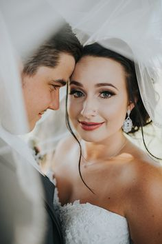 Hannah's natural wedding day makeup <3 Maggie Bride Hannah and groom Chandler celebrate their union in a beautiful rustic barn a little outside of Hermiston. Wedding dress: Paulina by Maggie Sottero