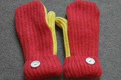 Upcycled RED AND YELLOW with PINK lining sweater, jumper mittens, Recycled woollen mittens, Eco-friendly gift, Handmade upcycled mittens, mixed fibres: Amazon.co.uk: Handmade Mixed Fiber, S Star, Mittens, Christmas Stockings, Personalized Gifts, Eco Friendly, Jumper, Upcycle, Recycling