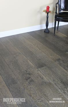 White Oak, stained with a unique process to give gorgeous, deep colors. This is Brindle from the Arcadian collection.