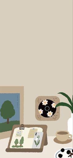 Simple Iphone Wallpaper, Kawaii Wallpaper, Pastel Wallpaper, New Wallpaper, Cute Wallpaper Backgrounds, Cute Cartoon Wallpapers, Aesthetic Iphone Wallpaper, Aesthetic Wallpapers, Aesthetic Art