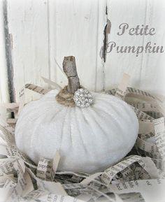 White Velvet Pumpkin from Junk to Joy!