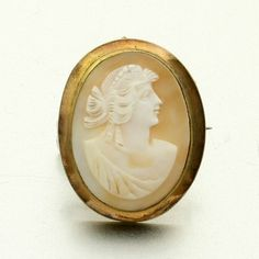 Antique Cameo Brooch Pendant Combo Hand Carved Shell by mybooms