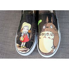 New Products : Hand Painted Canvas Shoes, Custom Canvas Sneakers Shoes, Painted Shoes Oline! Painted Canvas Shoes, Hand Painted Shoes, Canvas Sneakers, Shoes Sneakers, Design Your Own Shoes, My Neighbor Totoro, Custom Canvas, Slip On Shoes, Vans