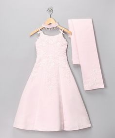 Take a look at this Lida Pink Embroidered Dress Set - Girls by Lida on #zulily today!