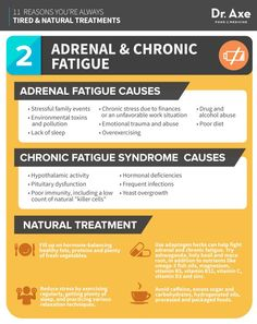 Always Tired, How to Fix, adrenal and chronic fatigue infographic http://www.draxe.com #health #holistic #natural