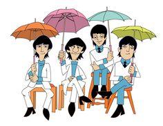 The Beatles cartoon The Beatles 1, Beatles Art, Beatles Photos, Ringo Starr, Paul Mccartney, John Lennon, Beatles Birthday, British Invasion, The Fab Four