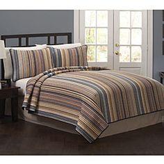 Morning Stripe 3-Piece Quilt Set