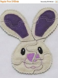 YEAR END SALE Bunny Felt Puzzle game Perfect for  Easter party favors school treats  busy bags or quiet books