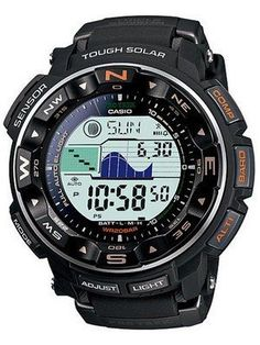Casio Protrek Watches - Designed for Durability. Casio Protrek - Developed for Toughness Forget technicalities for a while. Let's eye a few of the finest things about the Casio Pro-Trek. Casio Protrek, G Shock Watches, Sport Watches, Watches For Men, Men's Watches, Wrist Watches, Gold Watches, Watches Online, Radio Controlled Watches
