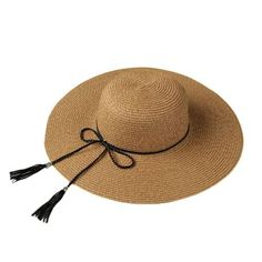1b5620fe318 ... Brim Tassel Foldable Sun. Más información. Más información.  TomTop -   TomTop Fashion Boy Girl Straw Hat Hollow Sheer Mesh Contrast Belt Fedora  Curly ...