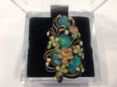 Vega Maddux Ring with Opals