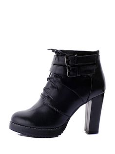 New In Round Toe Lace Up Leather Platform Boots Platform Boots, Lace Up, Toe, Ankle, Leather, How To Wear, Stuff To Buy, Accessories, Clothes