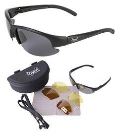 Catch Pro POLARISIERTE Schwarz Sonnenbrille zum Angeln - ANGLERBRILLE, mit Wechselgläsern für Fliegenfischen, Friedfischangeln, Karpfenangeln, Hochseefischen usw. UV schutz 400