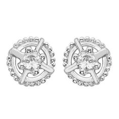 Stylish Round Stud Earrings  Price  :  $307 Only Style No                :  E9260 Metal Karat          :  10KT Diamond Weight :  0.12 CTS Diamond Type      : Round – Diamond Diamond Color     :  I-J Diamond Clarity   :  SI1 Diamond Pcs   :  2