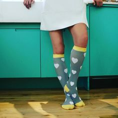How cute are these Marvy heart compression socks? #Fashion tip - they look amazing with every outfit =D