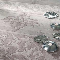 CLASSICA woollen low pile rug in grey 160 x 230cm