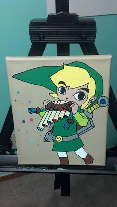 Legend of Zelda Link 8x10 Acrylic Painting on Canvas