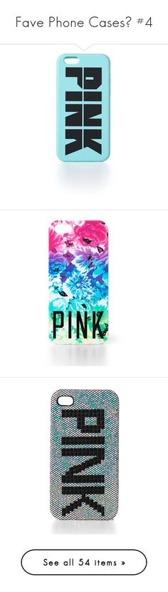 """Fave Phone Cases💛 #4"" by nattiexo ❤ liked on Polyvore featuring accessories, tech accessories, phone cases, phones, cases, electronics, iphone, rainbow ombre floral, pink iphone case and iphone cases"