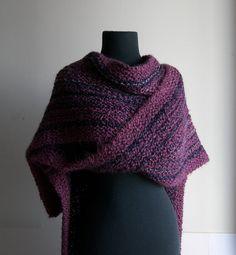 Extra Large Hand Knit Prayer Meditation Comfort Shawl Ruana by PeacefulPath