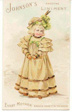 Victorian Trade Card ~ Johnsons Liniment