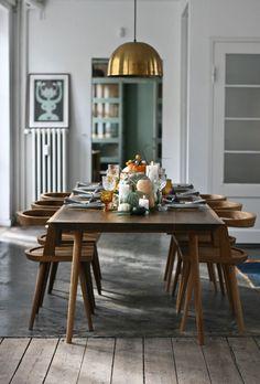 Autumn table setting, A Table Story, via Scandinavian Love Song