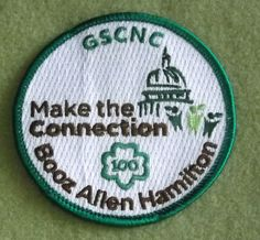 Girl Scouts Nation's Capital 100th anniversary patch. Make the Connection Booz Allen Hamilton