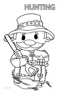 Printable Hunting Coloring Pages For Kids