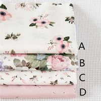 160CM*50CM chic floral cotton fabric sewing baby cloth crafts material summer dress quilting tecidos patchwork sewing tissue
