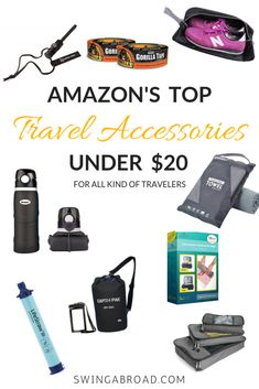 Discover the top must have travel accessories gadgets, travel accessori Couple Travel, Family Travel, Family Trips, Travel Items, Travel Gifts, Travel Products, Amazon Gadget, Best Travel Gadgets, Travel Hacks