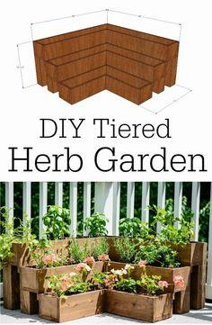 DIY tiered herb garden planters