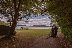 The bride wore a black wedding dress at Ashford Castle lawn ceremony Ashford Castle, Irish Wedding, Black Wedding Dresses, Wedding Ceremonies, Vows, Country Roads, Bride, Photography, Beautiful