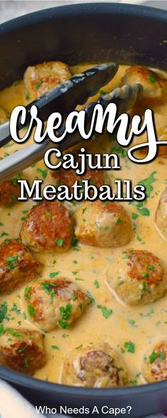 Deliciously simple Cajun Chicken Meatballs in Cajun Cream Sauce is a hearty meal the family will love. This one-pan meal tastes great over rice or pasta. Recipes chicken Cajun Chicken Meatballs in Cajun Cream Sauce Louisiana Recipes, Cajun Recipes, Beef Recipes, Cooking Recipes, Cajun And Creole Recipes, Haitian Recipes, Donut Recipes, Pollo Cajun, Hanger Steak