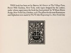 A bookmark for the end of the book?   Colophons & copyrights: Delight in the details « Felt & Wire: