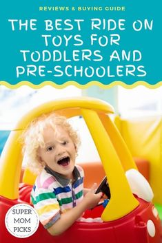 Your little one is ready to be mobile, here are the best ride-on toys we have found. #supermompicks #momlife #rideontoys #toddlers #preschool