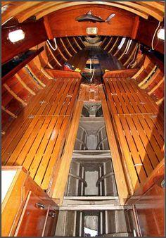 index111KitYu-7 Sailboat Interior, Yacht Interior, Hull Boat, Chris Craft Boats, Wooden Sailboat, Sailboat Living, Classic Wooden Boats, Classic Yachts, Diy Boat