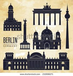 Berlin. Vector illustration - stock vector