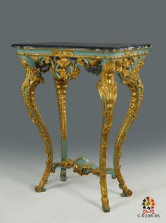Venecian 17th console hand carved and water gilded made by www.rubensartgallery.com